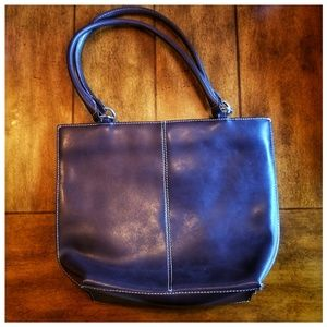 Wilsons Leather chocolate brown shoulder purse